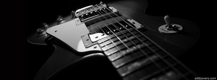 Black Guitar {Music Instruments Facebook Timeline Cover Picture, Music Instruments Facebook Timeline image free, Music Instruments Facebook Timeline Banner}