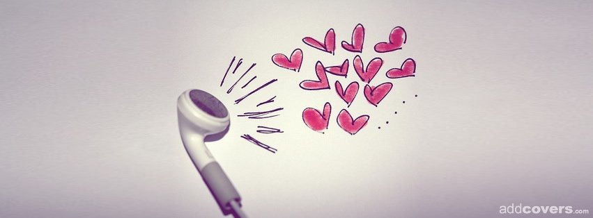 Headphone Hearts {Music Facebook Timeline Cover Picture, Music Facebook Timeline image free, Music Facebook Timeline Banner}
