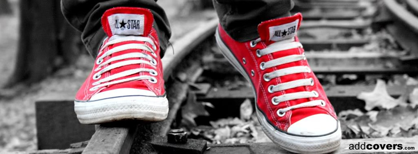 Red Converse Facebook Covers