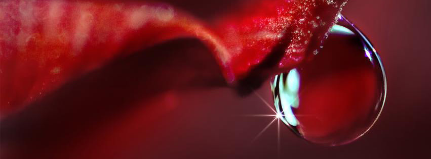 Red Abstract Water Drop Facebook Covers for Timeline.