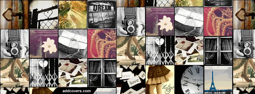Vintage collage Facebook Covers