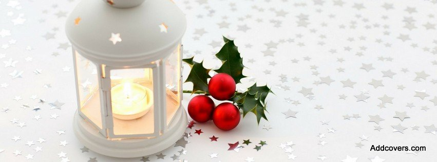 Christmas Candle {Holidays Facebook Timeline Cover Picture, Holidays Facebook Timeline image free, Holidays Facebook Timeline Banner}