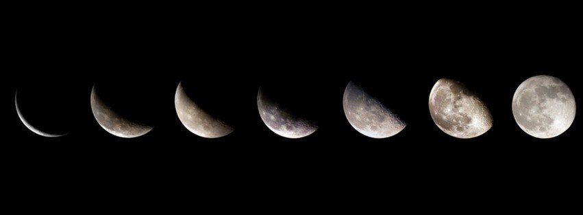 Moon Phases Facebook Covers for your FB timeline profile! Download Now ...