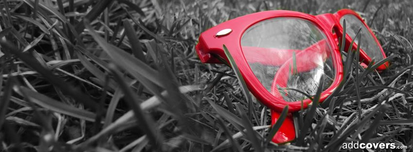 Red Glasses Facebook Covers