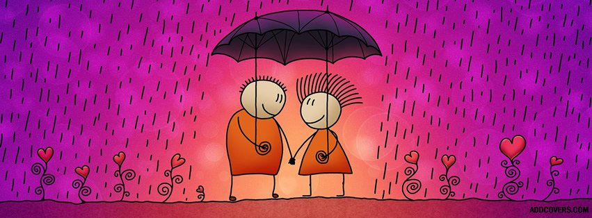 Rain for Lovers Facebook Covers