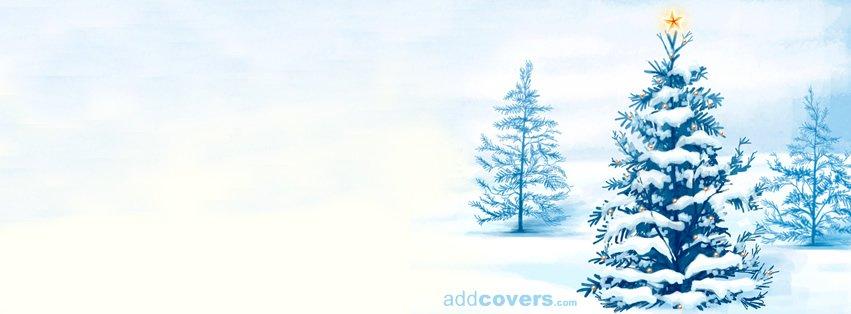 christmas tree snow holidays facebook timeline cover picture holidays facebook timeline image free - Christmas Tree Covers
