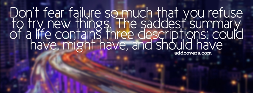 dont fear failure facebook covers for timeline