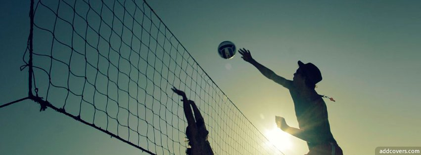 Playing Volleyball Facebook Covers