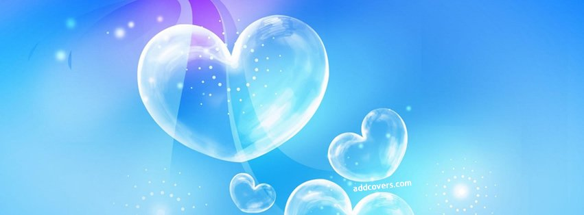 Crystal Clear Hearts Facebook Covers