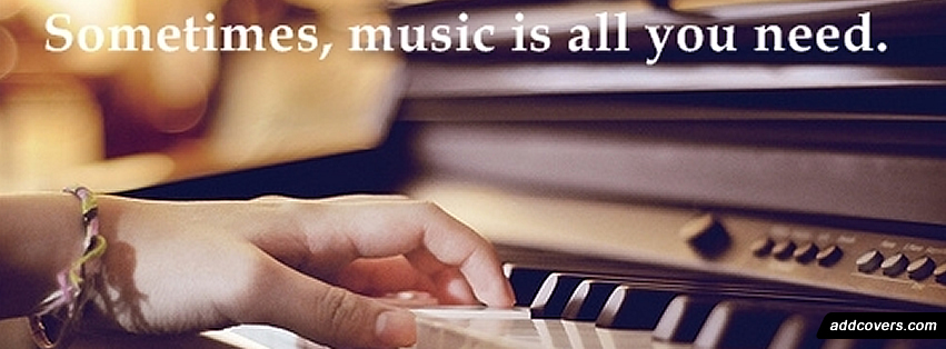 Music is all you need Facebook Covers