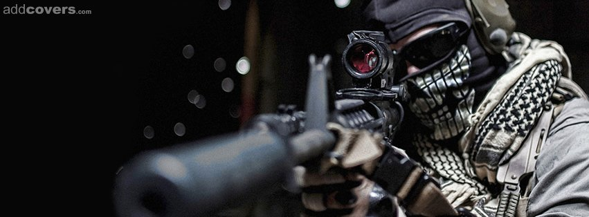Modern Soldier Scope Facebook Covers