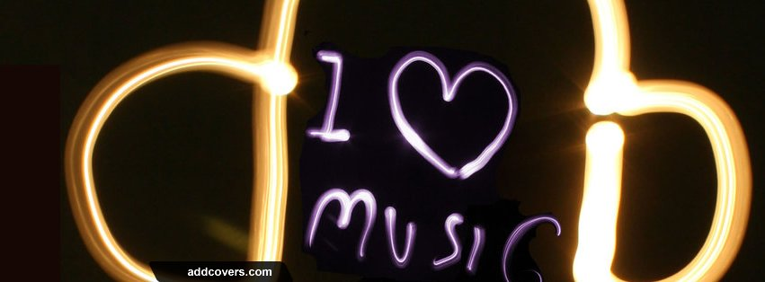 I love music light Facebook Covers
