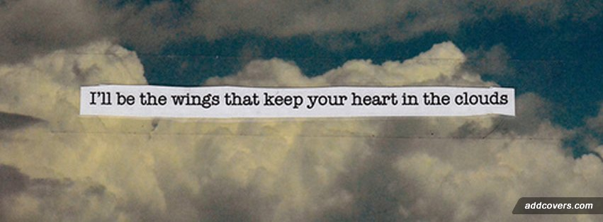 Heart in the Clouds Facebook Covers