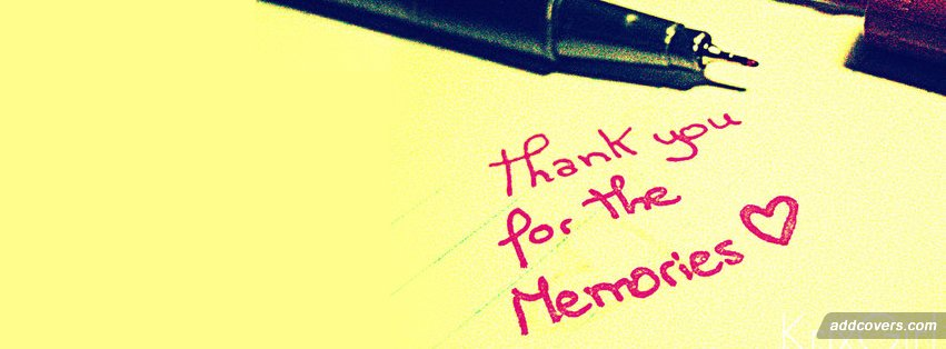 Thank you memories {Word Pictures Facebook Timeline Cover Picture, Word Pictures Facebook Timeline image free, Word Pictures Facebook Timeline Banner}