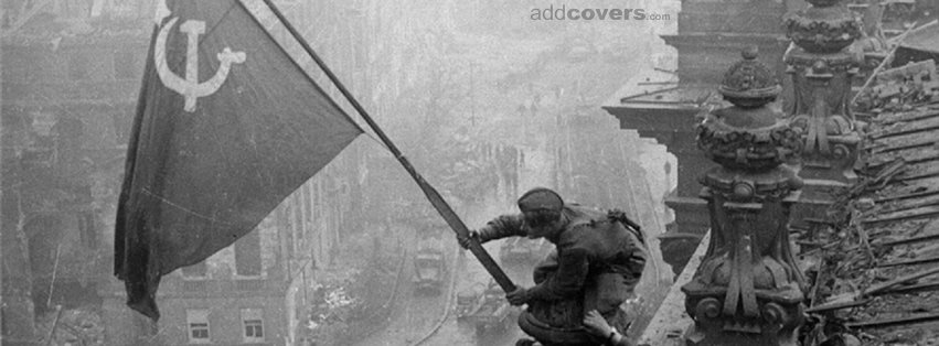 Soviet Flag Black & White Facebook Covers