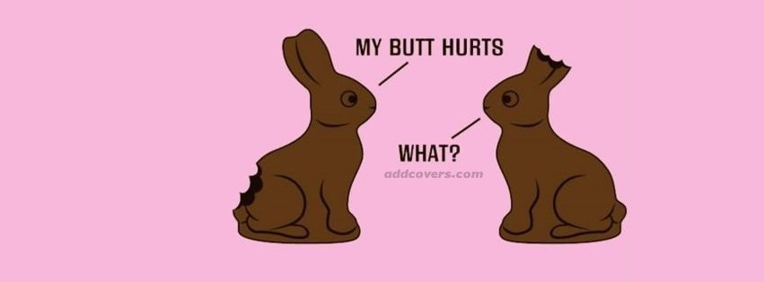 Funny Easter Bunnies Facebook Covers