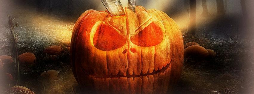 scary halloween pumpkin holidays facebook timeline cover picture holidays facebook timeline image free - Halloween Facebook Banners