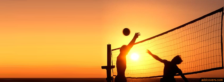 Sunset Volleyball Facebook Covers