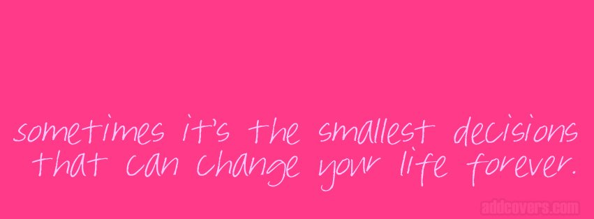 Pink Life Quote Facebook Covers