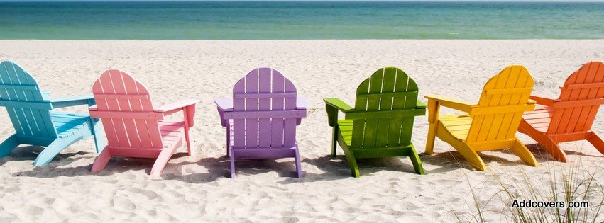 Colorful Beach Chairs {Scenic U0026 Nature Facebook Timeline Cover Picture,  Scenic U0026 Nature Facebook