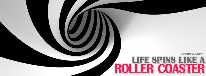 Like a Roller Coaster Facebook Covers