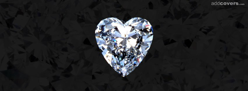 Diamond Heart Facebook Covers