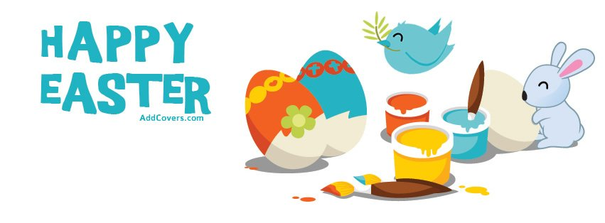 Cute Happy Easter Facebook Covers