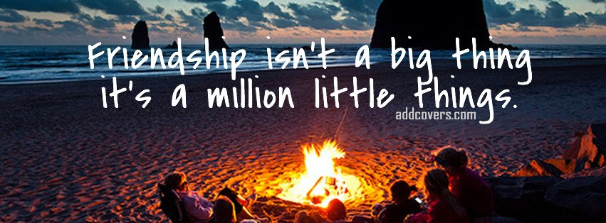 Friendship is a million little things Facebook Covers
