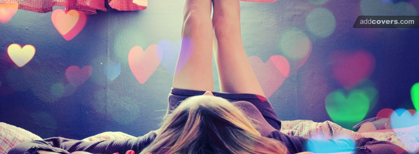 Girl in love  Facebook Covers