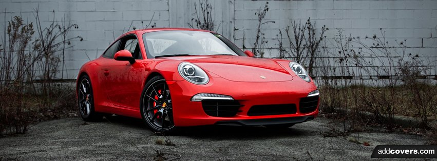 2013 Porsche 911 Red Facebook Covers
