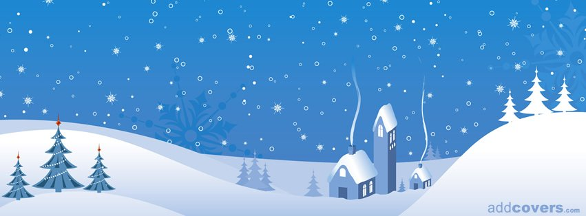 Cute Home in the Snow {Holidays Facebook Timeline Cover Picture, Holidays Facebook Timeline image free, Holidays Facebook Timeline Banner}