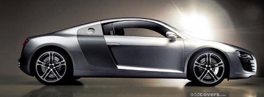 Silver Audi R8 {Cars Facebook Timeline Cover Picture, Cars Facebook Timeline image free, Cars Facebook Timeline Banner}