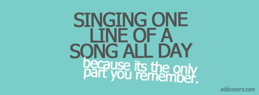 Singing one line of a song Facebook Covers