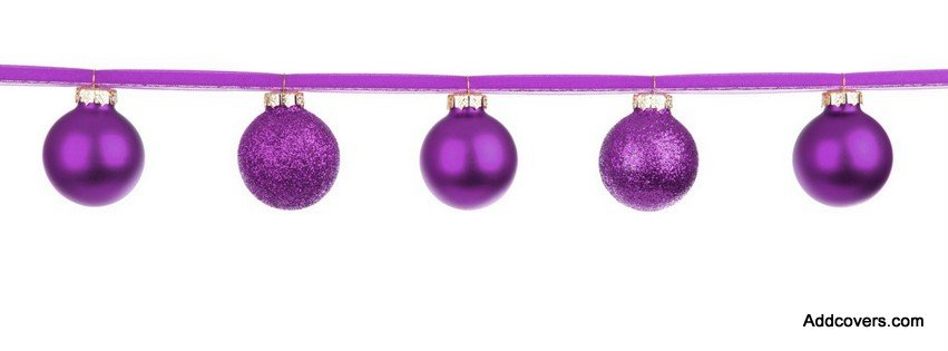 Purple Christmas Tree Decorations {Holidays Facebook Timeline Cover Picture, Holidays Facebook Timeline image free, Holidays Facebook Timeline Banner}