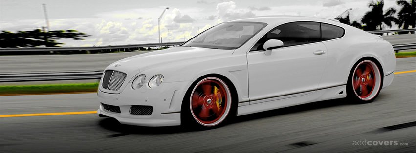 White Bentley GT Speed {Cars Facebook Timeline Cover Picture, Cars Facebook Timeline image free, Cars Facebook Timeline Banner}