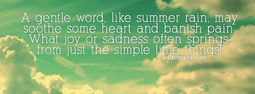 Gentle Word {Advice Quotes Facebook Timeline Cover Picture, Advice Quotes Facebook Timeline image free, Advice Quotes Facebook Timeline Banner}
