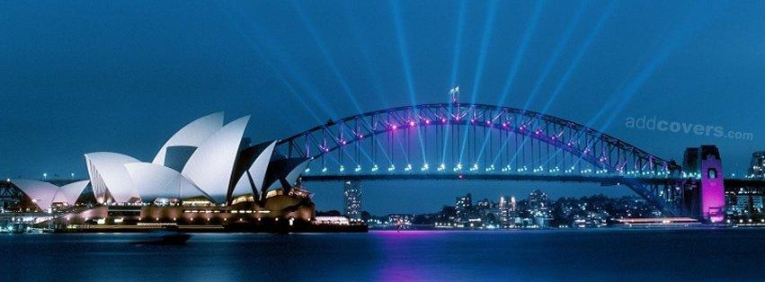 Sydney opera house lights facebook covers for timeline - Paisajes de australia ...
