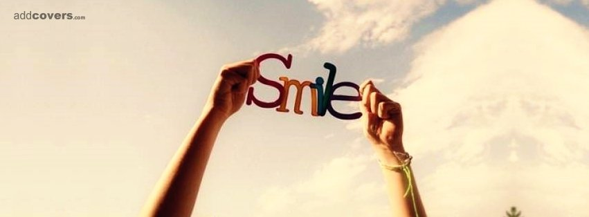 Smile Words Facebook Covers