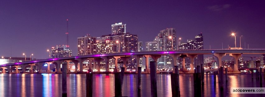 Miami skyline Facebook Covers