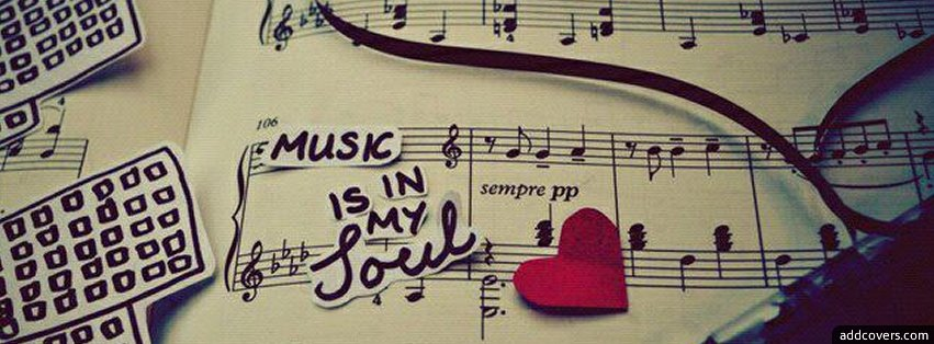 Music is in my Soul Facebook Covers