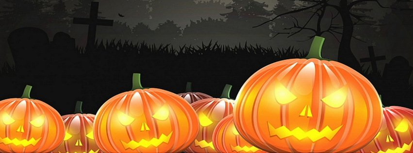 scary halloween pumpkins holidays facebook timeline cover picture holidays facebook timeline image free - Halloween Cover Pictures