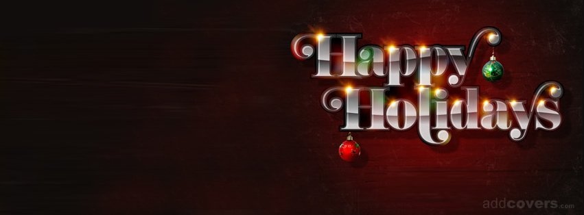 Happy Holidays Facebook Covers for Timeline.