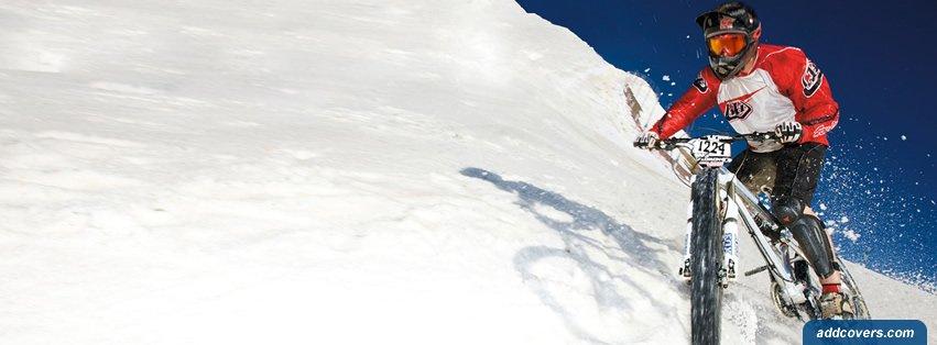 Snow Mountain Biking {Other Sports Facebook Timeline Cover Picture, Other Sports Facebook Timeline image free, Other Sports Facebook Timeline Banner}