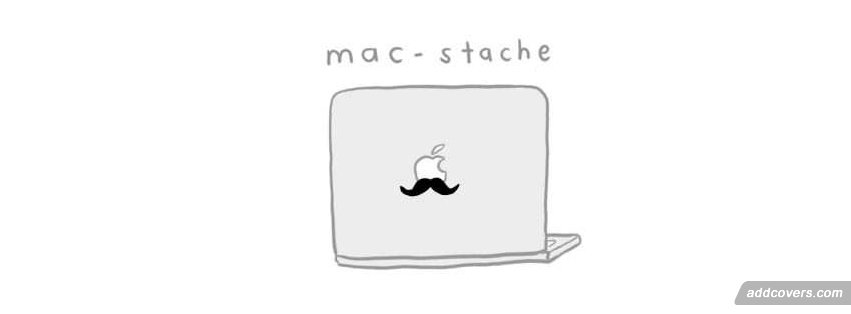 mac-stache Facebook Covers
