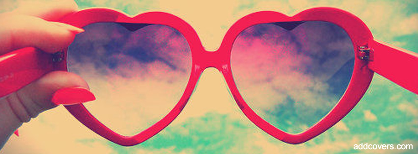 Heart Glasses Facebook Covers