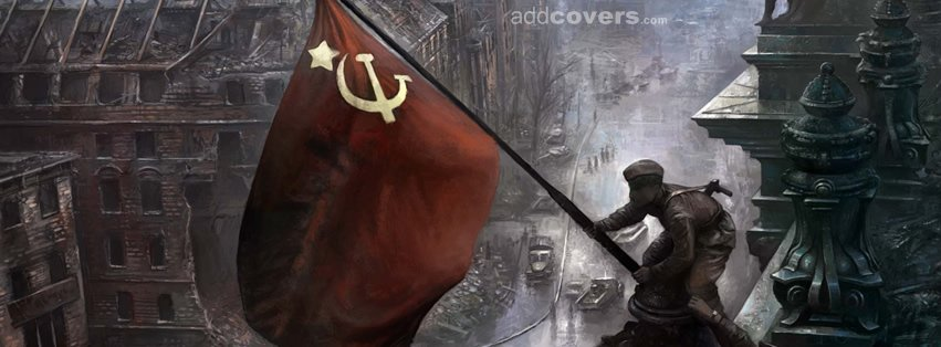 Soviet Flag Red Facebook Covers