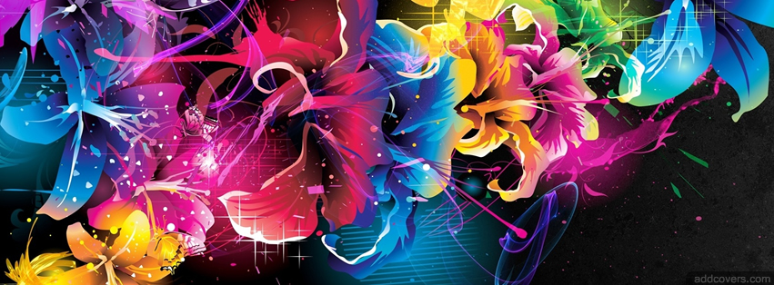 Colorful Flowers {Colorful & Abstract Facebook Timeline Cover Picture, Colorful & Abstract Facebook Timeline image free, Colorful & Abstract Facebook Timeline Banner}