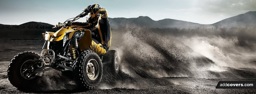 ATV Racing Sand {Other Sports Facebook Timeline Cover Picture, Other Sports Facebook Timeline image free, Other Sports Facebook Timeline Banner}