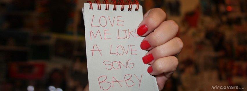 i Love u Like a Love Song Baby Love me Like a Love Song Baby
