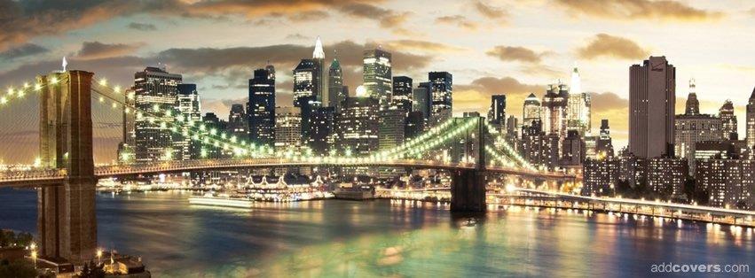 Brooklyn Bridge New York City {Scenic & Nature Facebook Timeline Cover Picture, Scenic & Nature Facebook Timeline image free, Scenic & Nature Facebook Timeline Banner}